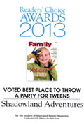 readers' choice award - best place to throw a party for tweens